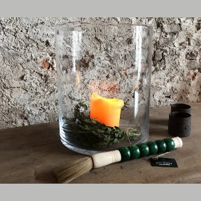 Windlicht blank mondgeblazen glas XL