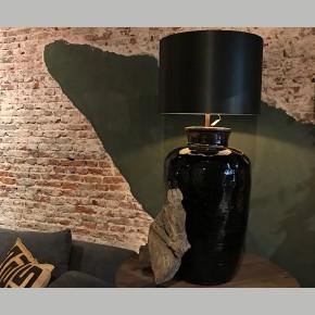 Kruiklamp Black Pottery Aura Peeperkorn