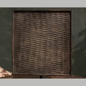 Oud houten wasbord op statief