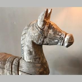 Houten paard op statief Large