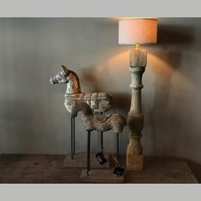 Houten paard op statief Small