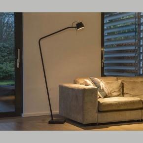 Frezoli Pliz Vloerlamp Mat Zwart