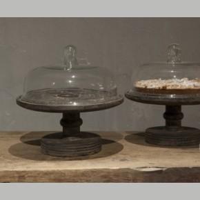 Oud houten taart plateau