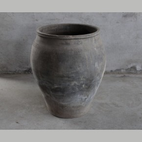 Oude Chinese Waterpot XXL Antraciet