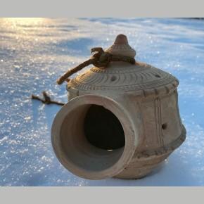 Handgemaakt terracotta vogelhuisje